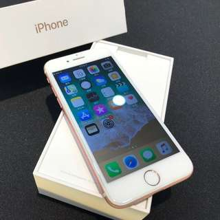 玫瑰金iPhone7 128G 盒裝 附原廠充電頭 耳機轉接線 倍思充電線(高雄鳳山可面交)