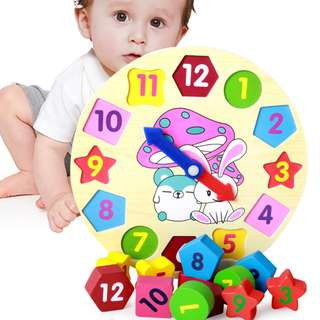 Baby Toddler Kids Toy Clock Educational Children Cognition Toys