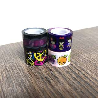 mini washi tapes and tape dispensers/holders