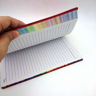 Rainbow red notebook (free delivery)