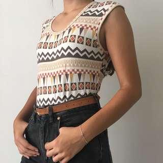 Vintage Brown Patterned Shirt