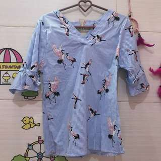 NEW BLOUSE BANGKOK BIRU