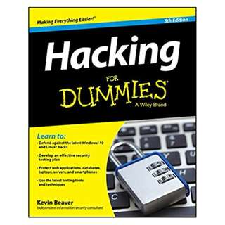 Hacking For Dummies (For Dummies (Computer/tech)) 5th Edition BY Kevin Beaver