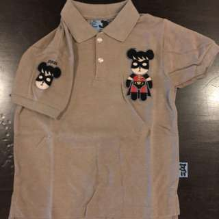 Boy Collar Shirt Light Brown (Robin)