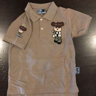 Boy Collar Shirt Light Brown (Ben 10)