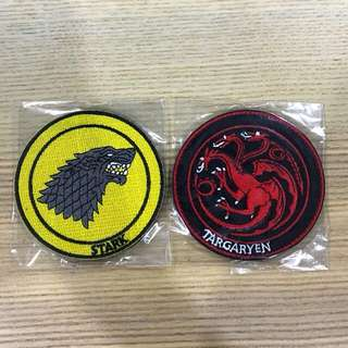 PRE ORDER GAME OF THRONES IRON ON PATCH