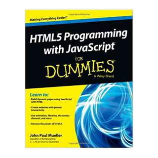 HTML5 Programming with JavaScript For Dummies BY John Paul Mueller (Author)