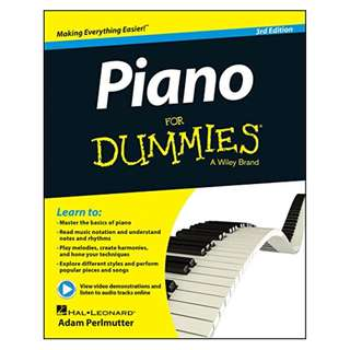 Piano For Dummies BY Adam Perlmutter, Hal Leonard Corp.