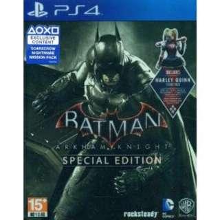 Batman: Arkham Knight Spesial Edition STEEL CASE