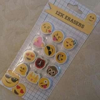 (全新) emoji 表情 whatsapp 擦膠 橡皮擦