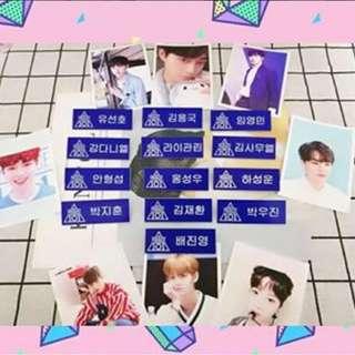 Preorder - WANNAONE HANGUL NAMETAG •Limited Edition •Choose Member exc.pos