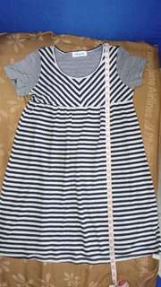 Maternity stripes dress