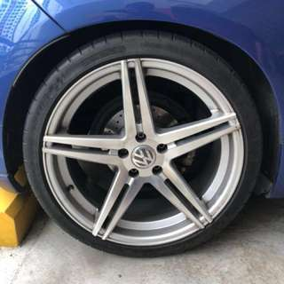 "19"" 5x112 Rims with Michelin PSS"