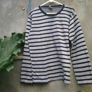 Striped Dark Blue Long Sleeve