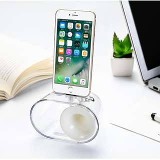 JOYROOM JR-ZS144 Small Bugle Amplify Charge Base Holder Speaker for Iphone 5,6,7,8,X White