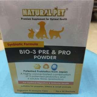 NaturalPet Bio-3 Pre & Pro Powder 30sachet-$48.40