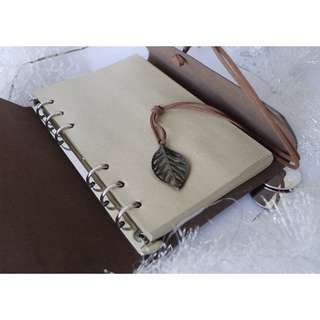 LEAF LEATHER COVER NOTEBOOK