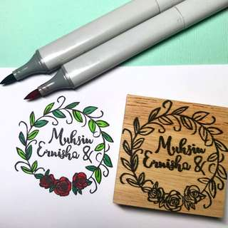Customised wedding stamp