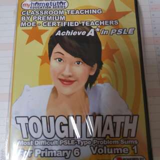 My Hometutor Tough Math for Primary 6 Vol 1, 2 and 3 (3 CDs)