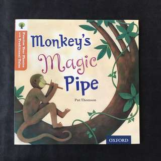 💥NEW- Oxford Practice Your Phonics with Traditional Tales - Monkey's Magic Pipe (Level 6) - Children Storybooks