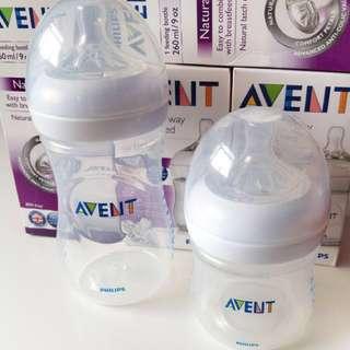 Avent bottle 9.onz 450 each,