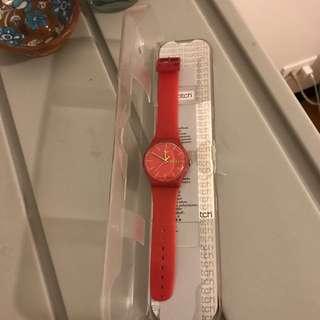 SWATCH3.5cm大表盤女士手錶 換電池可用 西門購入