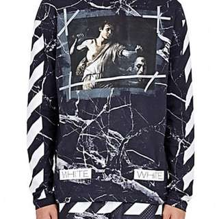 RARE Off White Caravaggio Marble Sweater (XS)