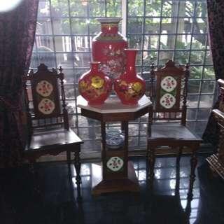 Set kerusi /meja nyonya antik