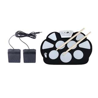 💯 W758M USB Drum Kit with 2 Sticks Foot Pedals