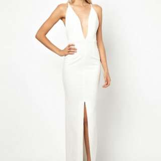 Solace London White Maxi Formal Dress Gown