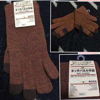 日本製🆕muji touchscreens gloves🧤 無印良品手套手襪 男女合用