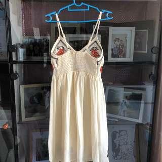 Danila Embroidery Dress (White)