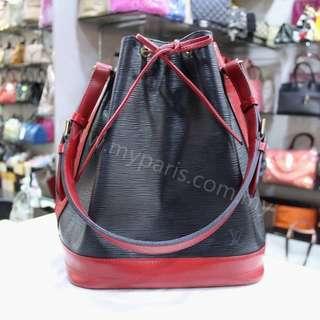 Louis Vuitton Bicolor Black+ Red Large Noe