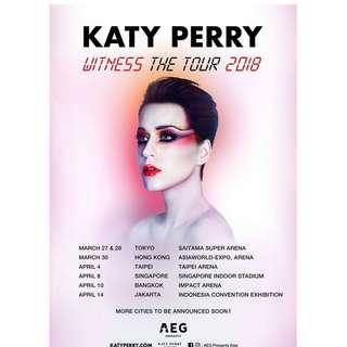 Tiket Konser Katy Perry (Kat Silver) (14 April 2018)