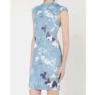 Love Bonito Ducena Printed Dress ( Baby Blue)