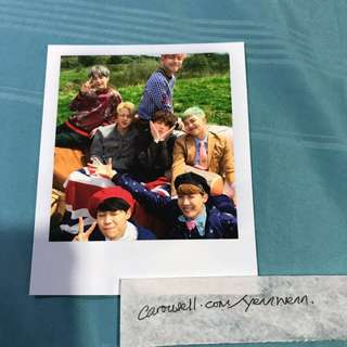 BTS Young Forever Official Group Polaroid Photocard