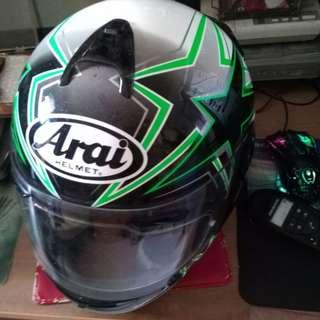 Vintage Arai Fullface Fiberglass Helmet