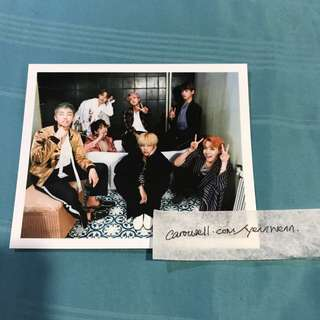 BTS Wings Official Group Photocard