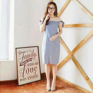 Lily dress Dark Blue REAL PICT