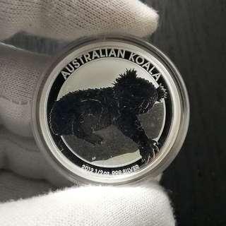 2012 Australian Koala 1oz Silver Coin