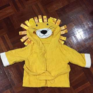 BABY lion bath robe
