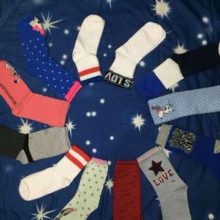 Kaos kaki motif/polos