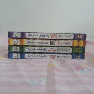 Diary of a Wimpy Kid Set 2-5 series