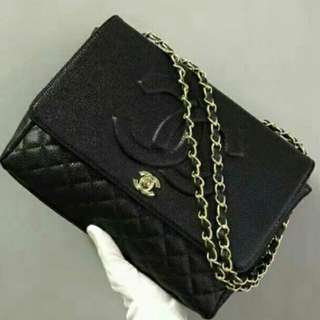 Chanel Timeless Black Bag with Gold Hardware