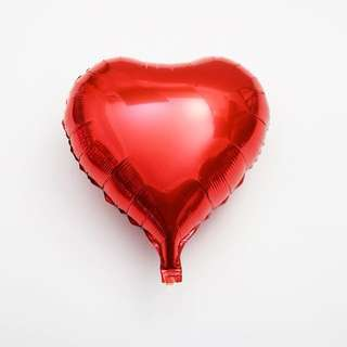 """VALENTINES Red Heart Foil Balloons 20"""""""