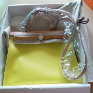 Brand new, Lemon color,  Waterproof material,  A Stamp, Full Set With Receipt