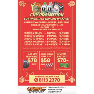 CONTINENTIAL CHINESE NEW YEAR PROMOTION SERVICING