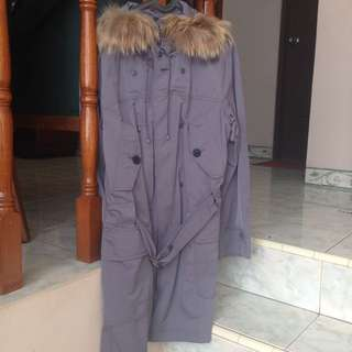 Winter Fur Jacket / Coat / Parka Grey (reprice!)