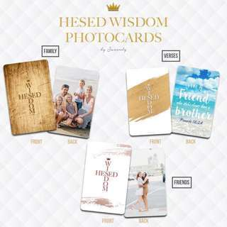 Personalised Hesed Wisdom Photocards