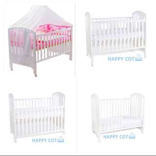 Jarrons & Co 4in1 Baby Cot / Crib with mattress and net (almost new with box)